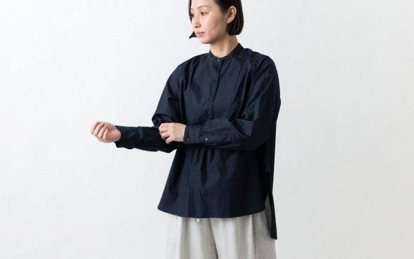 クラシックフロントプルオーバーシャツ ネイビー HANDROOM WOMEN'S