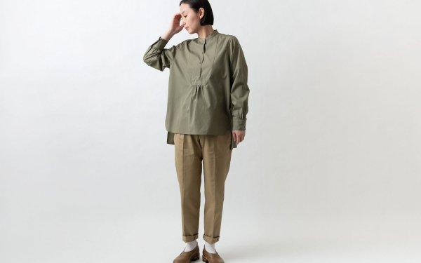 クラシックフロントプルオーバーシャツ カーキ HANDROOM WOMEN'S