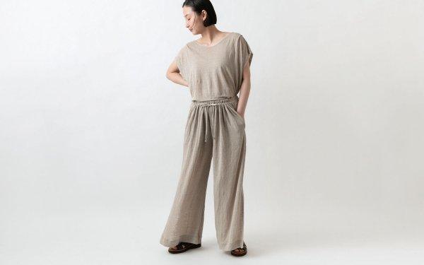 enrica linenknit pants/ natural