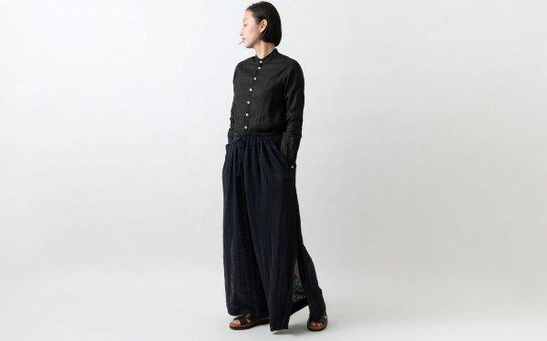 enrica linenknit pants/ black