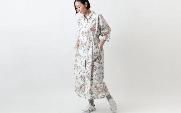 木間服装製作 / longshirt flower / unisex 1size