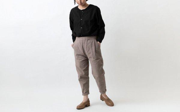 yohaku 備後節織パンツ|ヒノキ染め|unisex 3サイズ