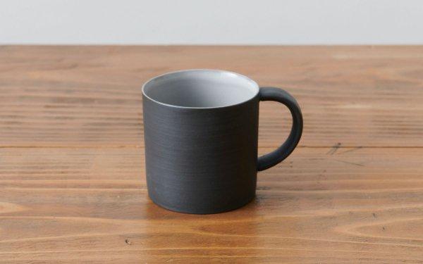 マグカップ 黒 焼き締め