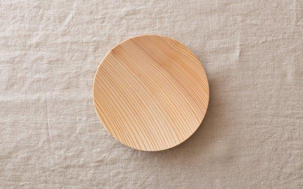 【受注生産】ろくろ挽きの木皿 樅(もみ)の木 5寸(15cm)