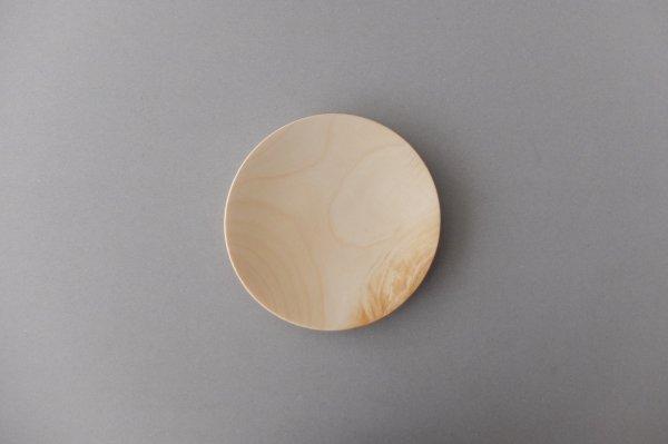 【在庫あり】ろくろ挽きの木皿 栃(とち)の木 5寸(15cm)