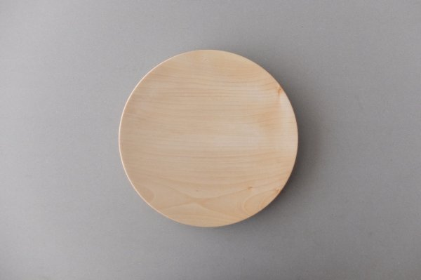 【在庫あり】ろくろ挽きの木皿 栃(とち)の木 7寸(21cm)