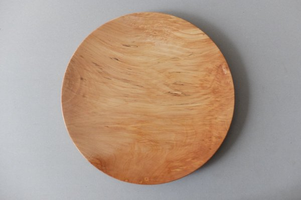 【受注生産】ろくろ挽きの木皿 栃(とち)の木 9寸(27cm)
