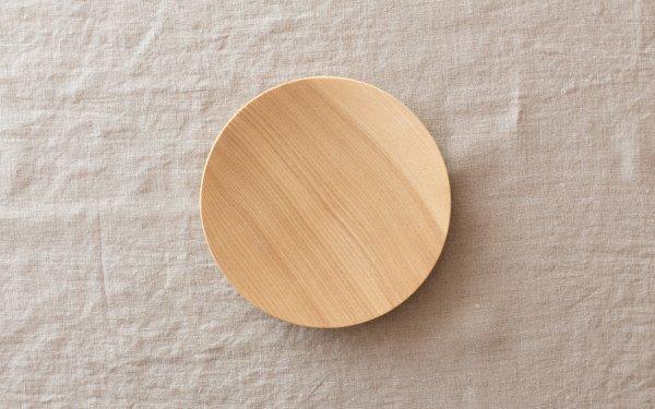 【受注生産】ろくろ挽きの木皿 栓(せん)の木 5寸(15cm)