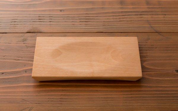 樺の木の角皿(小) 溝あり