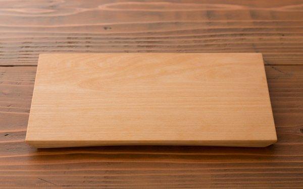 樺の木の角皿(大) 溝なしフラット