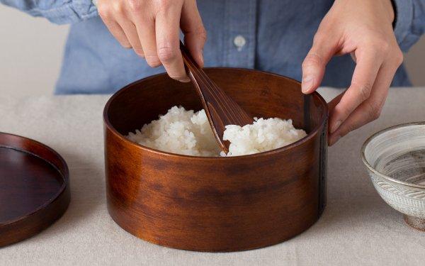 【sold out】曲げわっぱ 6寸飯器(お櫃) 杓文字付き