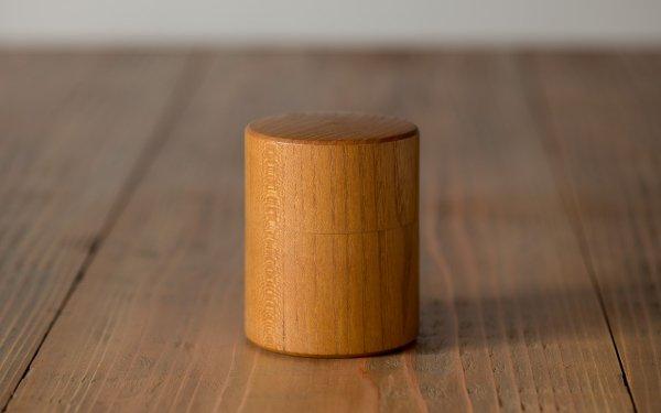 【受注生産】ろくろ挽きの桑の木の茶筒(小)