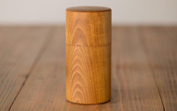 【受注生産】ろくろ挽きの桑の木の茶筒(大)