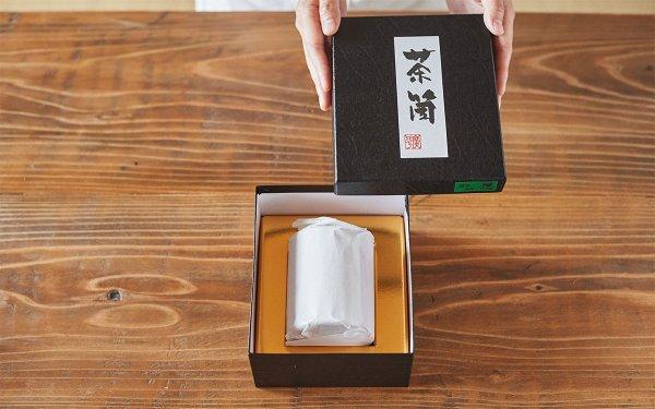 木の茶筒(小)贈答用箱