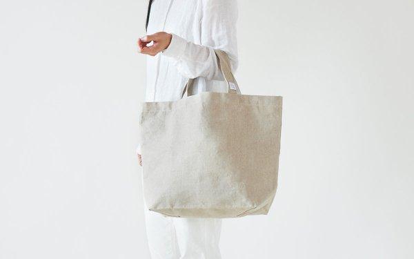【受注生産】リネン帆布のトートバッグ(M)