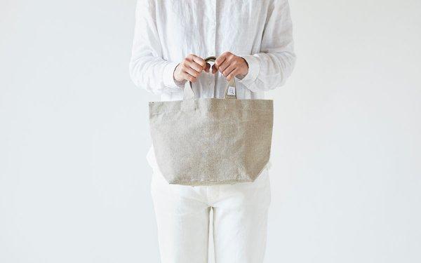 【受注生産】リネン帆布のトートバッグ(S)