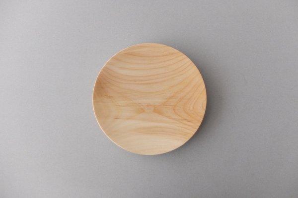 【再入荷】ろくろ挽きの木皿 栃(とち)の木 6寸(18cm)