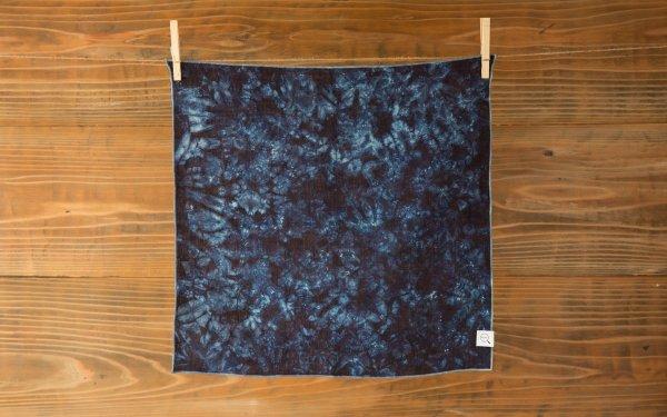 【受注製作】本藍染めオーガニックリネンハンカチ 群雲