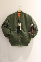ALPHA INDUSTRIES -MA-1 SLIM FIT  JACKT(SAGE)<img class='new_mark_img2' src='https://img.shop-pro.jp/img/new/icons5.gif' style='border:none;display:inline;margin:0px;padding:0px;width:auto;' />
