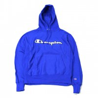 Champion-REVERSE WEAVE SCRIPT LOGO HOODIE(BLUE)<img class='new_mark_img2' src='https://img.shop-pro.jp/img/new/icons5.gif' style='border:none;display:inline;margin:0px;padding:0px;width:auto;' />