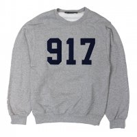 NINE ONE SEVEN(917)-CREW NECK SWEAT(GRAY)<img class='new_mark_img2' src='https://img.shop-pro.jp/img/new/icons5.gif' style='border:none;display:inline;margin:0px;padding:0px;width:auto;' />