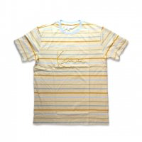 KARL KANI-YARN DIE STRIPES  S/S T-SHIRT(KHAKI)<img class='new_mark_img2' src='//img.shop-pro.jp/img/new/icons5.gif' style='border:none;display:inline;margin:0px;padding:0px;width:auto;' />