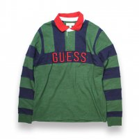 GUESS JEANS-GUESS81 CALEB BLOCKED RUGBY SHIRT(GREEN)<img class='new_mark_img2' src='//img.shop-pro.jp/img/new/icons5.gif' style='border:none;display:inline;margin:0px;padding:0px;width:auto;' />