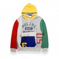 POLO RALPH LAUREN -PATCHWORK HOODIE(MULTI)<img class='new_mark_img2' src='https://img.shop-pro.jp/img/new/icons5.gif' style='border:none;display:inline;margin:0px;padding:0px;width:auto;' />