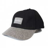 Calvin Klein -WOOL BASEBALL CAP(BLACK/GRAY)<img class='new_mark_img2' src='//img.shop-pro.jp/img/new/icons5.gif' style='border:none;display:inline;margin:0px;padding:0px;width:auto;' />