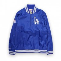 Mitchell&Ness-LOS ANGELS DOGERS 1/4ZIP NYLON PLLOVER JACKET(BLUE)