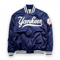 Mitchell&Ness-NEW YORK YANKKES AUTHENTIC SATAIN JACKET(NAVY)