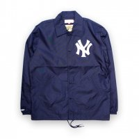 Mitchell&Ness-NEW YORK YANKKES COACH JACKET(NAVY)