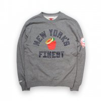Mitchell&Ness-NEW YORK FINEST CREW NECK SWEAT SHIRT(GRAY)