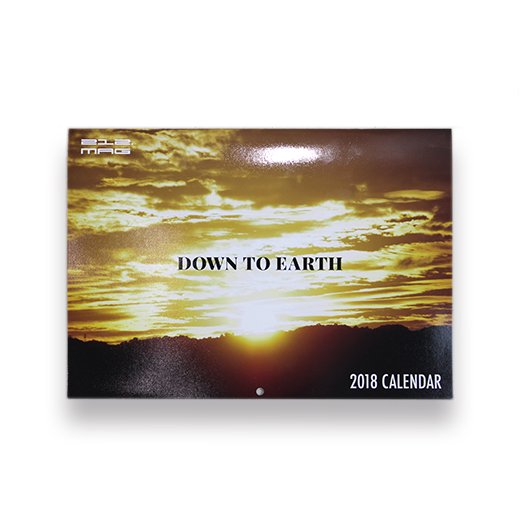 212.MAG -DOWN TO EARTH 2018 CALENDAR