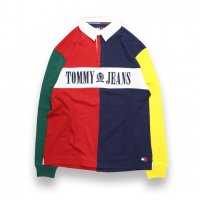 TOMMY JEANS-90'S COLORBLOCKED RUGBY SHIRT(MULTI)<img class='new_mark_img2' src='https://img.shop-pro.jp/img/new/icons5.gif' style='border:none;display:inline;margin:0px;padding:0px;width:auto;' />