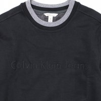Calvin Klein Jeans-TONAL RIB TRIPPING CREWNECK(BLACK)<img class='new_mark_img2' src='//img.shop-pro.jp/img/new/icons5.gif' style='border:none;display:inline;margin:0px;padding:0px;width:auto;' />
