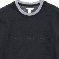 Calvin Klein Jeans-TONAL RIB TRIPPING CREWNECK(BLACK)<img class='new_mark_img2' src='https://img.shop-pro.jp/img/new/icons5.gif' style='border:none;display:inline;margin:0px;padding:0px;width:auto;' />