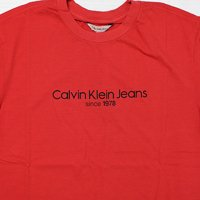Calvin Klein Jeans-OLD SCHOOL S/S T-SHIRT(RED)<img class='new_mark_img2' src='//img.shop-pro.jp/img/new/icons5.gif' style='border:none;display:inline;margin:0px;padding:0px;width:auto;' />
