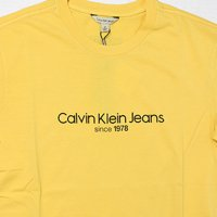 Calvin Klein Jeans-OLD SCHOOL S/S T-SHIRT(YELLOW)<img class='new_mark_img2' src='//img.shop-pro.jp/img/new/icons5.gif' style='border:none;display:inline;margin:0px;padding:0px;width:auto;' />