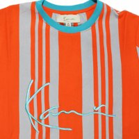 KARL KANI- VERTICAL STRIPE  S/S T-SHIRT(CARROT)<img class='new_mark_img2' src='https://img.shop-pro.jp/img/new/icons5.gif' style='border:none;display:inline;margin:0px;padding:0px;width:auto;' />