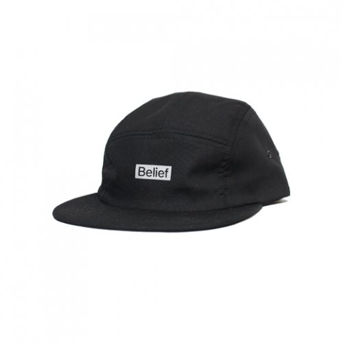 BELIEF NYC -BOXLOGO 5PANEL CAP(BLACK)<img class='new_mark_img2' src='//img.shop-pro.jp/img/new/icons5.gif' style='border:none;display:inline;margin:0px;padding:0px;width:auto;' />