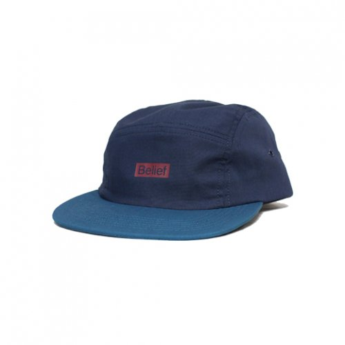 BELIEF NYC -BOXLOGO 5PANEL CAP(NAVY/TEAL)<img class='new_mark_img2' src='https://img.shop-pro.jp/img/new/icons5.gif' style='border:none;display:inline;margin:0px;padding:0px;width:auto;' />