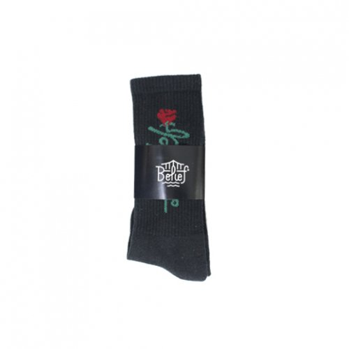 BELIEF NYC -ROSE SOCKS(BLACK)<img class='new_mark_img2' src='//img.shop-pro.jp/img/new/icons5.gif' style='border:none;display:inline;margin:0px;padding:0px;width:auto;' />