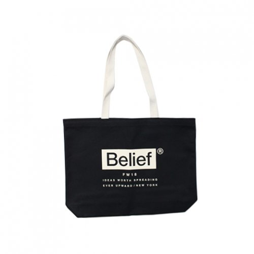 BELIEF NYC -BOXLOGO TOTE BAG(BLACK/WHITE)<img class='new_mark_img2' src='//img.shop-pro.jp/img/new/icons5.gif' style='border:none;display:inline;margin:0px;padding:0px;width:auto;' />