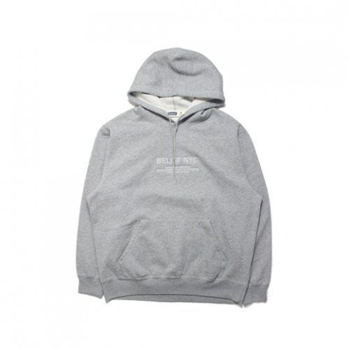 BELIEF NYC -BAYSIDE PREMIUM HOODIE(GRAY)<img class='new_mark_img2' src='https://img.shop-pro.jp/img/new/icons5.gif' style='border:none;display:inline;margin:0px;padding:0px;width:auto;' />