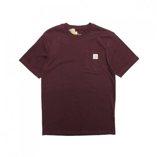 Carhartt-POCKET S/S T-SHIRT(BURGUNDY)<img class='new_mark_img2' src='https://img.shop-pro.jp/img/new/icons5.gif' style='border:none;display:inline;margin:0px;padding:0px;width:auto;' />
