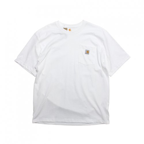 Carhartt-POCKET S/S T-SHIRT(WHITE)<img class='new_mark_img2' src='https://img.shop-pro.jp/img/new/icons5.gif' style='border:none;display:inline;margin:0px;padding:0px;width:auto;' />