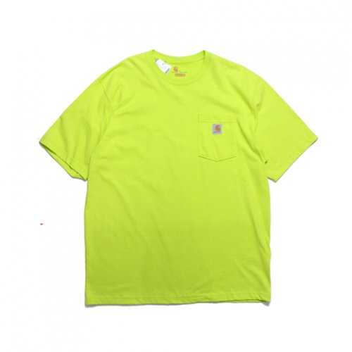 Carhartt-POCKET S/S T-SHIRT(LIME)<img class='new_mark_img2' src='https://img.shop-pro.jp/img/new/icons5.gif' style='border:none;display:inline;margin:0px;padding:0px;width:auto;' />