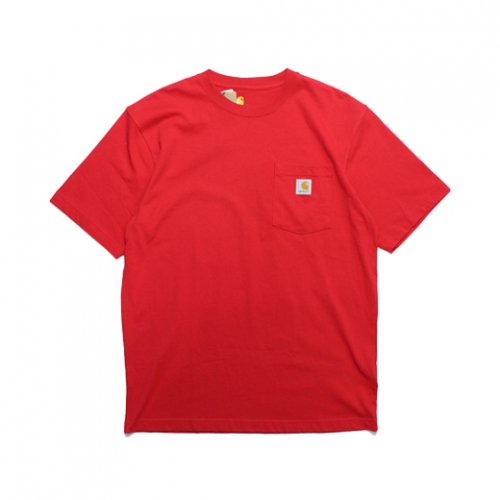 Carhartt-POCKET S/S T-SHIRT(RED)<img class='new_mark_img2' src='https://img.shop-pro.jp/img/new/icons5.gif' style='border:none;display:inline;margin:0px;padding:0px;width:auto;' />