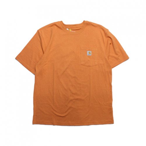 Carhartt-POCKET S/S T-SHIRT(ORENGE HEATHER)<img class='new_mark_img2' src='https://img.shop-pro.jp/img/new/icons5.gif' style='border:none;display:inline;margin:0px;padding:0px;width:auto;' />